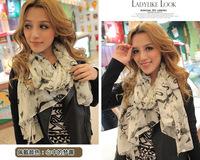2014 NEW HOT Fashion trendy Cozy  Women's long cotton Soft Scarves Muffler Promotional Discounts Chiffon Women Print Scarf