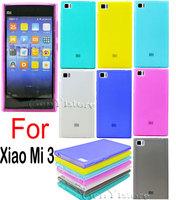 Ultra thin Slim High Quality Soft TPU with dust plug Jelly Case Cover for Xiaomi 3 xiao MI M3 Mi3 MI3