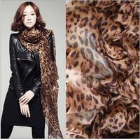 2014 NEW HOT Fashion Leopard grain Women's long cotton Soft Scarves Muffler Promotional Discounts Chiffon Women Print Scarf