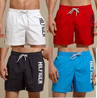 TOM***  Pure color fashion Swimwears shorts/Beach casual & sport board short men sport casual drawstring shorts