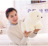 Drop shipping Retail 40cm White Polar Bear Plush Toys for Kid Soft Animal Dolls christmas gift for girl baby Free shipping