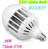 Newest LED E27/B22 Globe Bulb 36W Bubble Ball Bulb with 72smd 5730 Chip Energy Saving For Bedroom Bathroom illumination