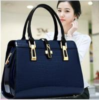 2014 Fall New Fashion Alligator Women Bag High Quality Patent Leather Crocodile Pattern Women Handbag Designer Shoulder Bags