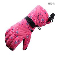 New brand Women waterproof skiing gloves windproof snowboard gloves winter outdoor snow sports warm gloves snowmobile ski glove
