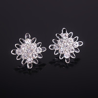 1771#South Korean high-end jewelry fashion personalized crystal geometry earring.