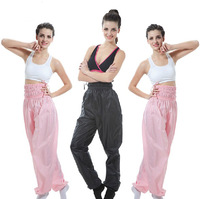 High Quality Thick PVC Sweat Pant Weight Loss High-waisted Trousers Slimming Sauna Exercise Gym Dance Running Aerobics Women
