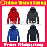 Free Ship New 2015 Solid Slim Lovers Hoodies Sweatshirts Sports Casual Sweatshirt Jackets Outerwear Fashion Men's Pullover A0626