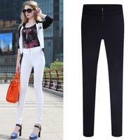 2014 new European leg pants new winter fashion plus size soild feet Slim pencil pants zipper leggings S-2XL