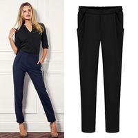 2014 new European and American fashion lady casual soild leg trousers harem pants leggings S-2XL