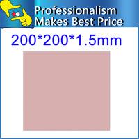 20pcs/lot best quality 200x200x1.5mm silicone pads thermal conductive pad for CPU GPU Heatsink cooling