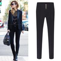 2014 new antumn European and American fashion lady Slim soild leg stretch pencil pants casual leggings S-2XL