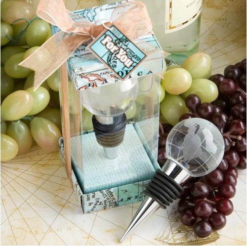 5885 wedding gift Crystal globe wine stopper(China (Mainland))