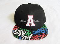Promotion 2014 letter A eagle boy embroidery hiphop cap lovers hiphop cotton baseball cap men black snapback cap