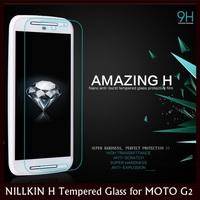 NILLKIN Amazing 9H Nanometer Anti-Explosion Tempered Glass Film for MOTO G2, Moto G+1, XT1068, XT1069+25 pcs DHL Free Shipping