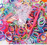 200Elastic Different Colors Rubber Bands 10 Clips 1 Hook DIY Loom Bands Bracelet