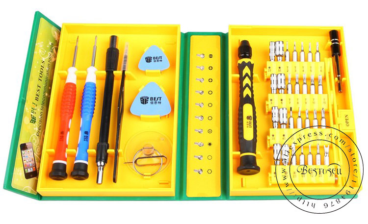 38 in 1 Professional Versatile Precision Electronic Hardware Repair Tools Kit BEST-8921 for iPhone Ipad Laptop(China (Mainland))