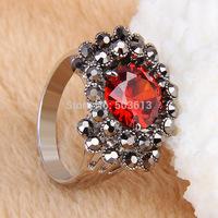 No min order one piece fashion metal 18/19/20 women's handmade rhinestone finger ring xydr197
