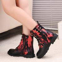 2014 autumn and winter fashion new Korean children selling brand rivets Martin boots warm