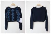 NEW! Fashionable Women Winter  Knitted  Short sweater Print pattern