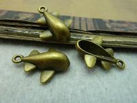 20Pcs Antique Bronze Tone Plane Charms DIY Jewelry Making