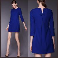 2014 Original single plus size women's new summer European and American fashionplus size Sleeve Dress M-3XL