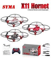Free shipping 2014 Syma X11 GYRO 2.4G 4CH 6-Axis Mini RC Helicopter Radio Control UFO Quadcopter Quad Copter RTF