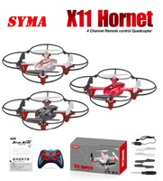 Free shipping 2014 Syma X11 GYRO 2.4G 4CH 6-Axis Mini RC Helicopter Radio Control UFO Quadcopter Quad Copter RTF