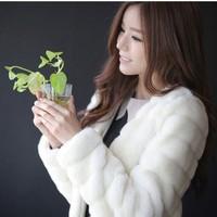 free shipping Fur coat 2014 autumn and winter Korean imitation rabbit hair short dresses faux fur coat