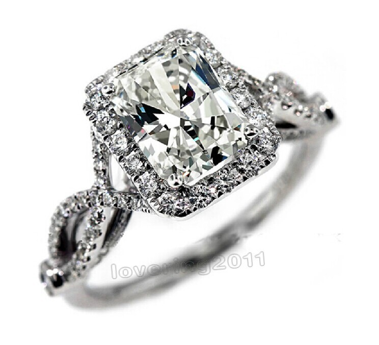 Victoria Wieck Antique Jewelry simulated diamond 925 Sterling Silver Engagement Wedding Ring Sz 5-11 Free shipping Gift(China (Mainland))