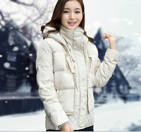 Tooling short design slim thickening plus size down coat outerwear female
