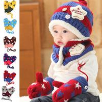 Cute 1pair Knitted Wool Thicken Children Gloves,Double Layer Wrist Mitten,Winter Warm Kid/Baby/Girl/boy Glove, Ride/Ski Gloves