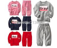132 Hot sale Boys girls tracksuits Long sleeve+Pants Kids Spring Autumn set children Clothing set children's wear Free shipping