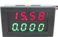 5pcs/lot red+green  2in1 0-33.00V/0-3.000A digital voltmeter ammeter volt amp panel meter voltage current monitor volt gauge