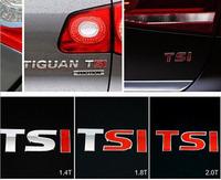 RED 1.4T 1.8T 2.0T TSI Sticker CHROME BADGE Rear EMBLEM DECAL Fit For VW GOLF GTI JETTA PASSAT TURBO