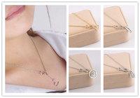 Women Silver Retro Infinity Hamsa Hand Heart Necklace Pendant Chain Necklace