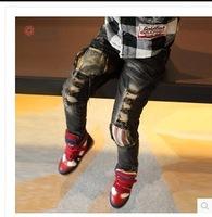 RQQ  children all-match frayed burr elastic pants 8K6636 1.36 Christmas