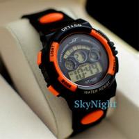 Sport's Orange BL Mens Boy Cool Smart Digital Time AL Date 7 color light  Dive Smart Swim 5AM Sport Wrist Watch Watches Red Gift
