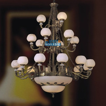 Mylar European antique marble dining room chandelier in the lobby conference room lighting fixtures store hall project(China (Mainland))
