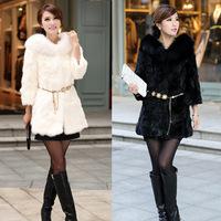 Imitation fur coat hair coat fox fur overcoat coat