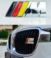 Car Germany  Flag ///M LOGO FRONT GRILL Sticker Head decals Badge Emblem Metal logo Fit For BMW M3 M5