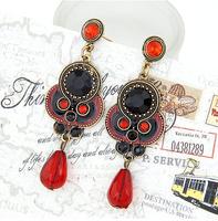 Aferican Vintage Water Drop Ethnic Earrings for Women Statement Black Brincos Grandes De Festa Jewelry Bijuterias Accessories