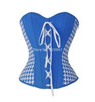 Women's plastic bonings lace up back corset top bustier 1326