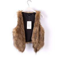 free shipping 2014 new European fashion color imitation fur Ma Jia vest