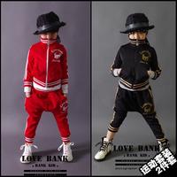 Children's New Fashion Sports Casual 2014 Autumn Cotton Jacket + Harem Pants Baby Boys Girls Kids Clothes Sets
