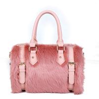2014 winter new favorite plush bag big bag handbag Ms. tact European and American big handbag tide