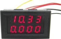 """dual 0.28 """"  red led 2in1 0-33.00V/0-3.000A digital voltmeter ammeter volt amp panel meter voltage Ampere gauge"""