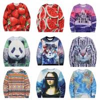 [Magic] Hot 3D clothing new made fleece inside warm winter cotton hoodies men/women o neck printed casual 3d sweatshirts 28model