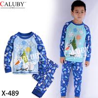 Boys Snowman Pajamas Sets Kids Autumn -Summer Clothing Set New 2014 Children Frozen LonSleeve Pijamas X-489