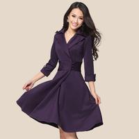 2014 one-piece dress plus size mm autumn clothing long-sleeve slim women's elegant basic skirt