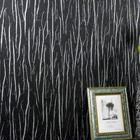 modern black & silver simple striped wallpaper for walls PVC & Vinyl Embossed wallcovering for bedroom living room eR345